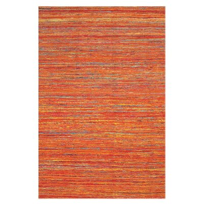 Orange Area Rug Rug Size: Rectangle 8 x 11