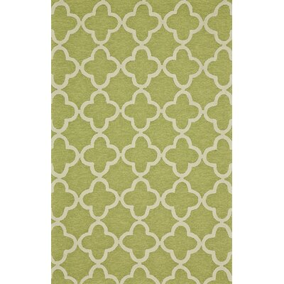Hand-Tufted Green Outdoor Area Rug Rug Size: 86 x 116