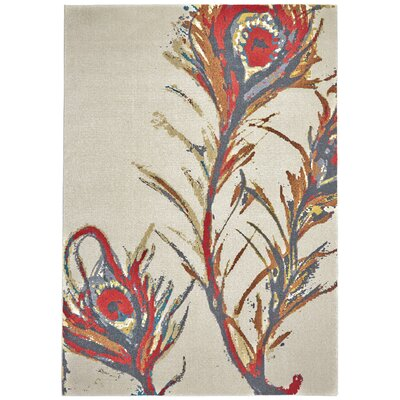 Beige Area Rug Rug Size: Rectangle 8 x 11