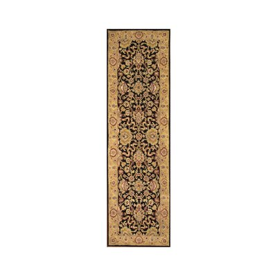 Hand-Tufted Black / Gold Area Rug Rug Size: Runner 3 x 10