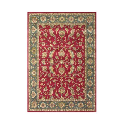 Milwaukie Hand-Tufted Red / Green Area Rug Rug Size: 8' x 10'