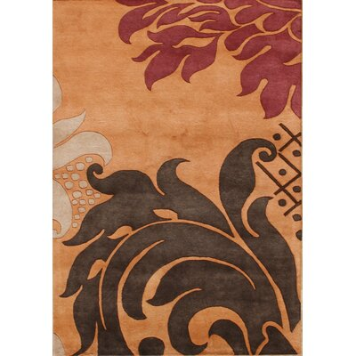 Hand-Tufted Ograne Area Rug Rug Size: 5 x 8