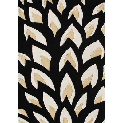 Hand-Tufted Black Area Rug Rug Size: 8 x 10