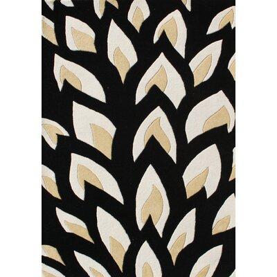 Hand-Tufted Black Area Rug Rug Size: 8 x 10