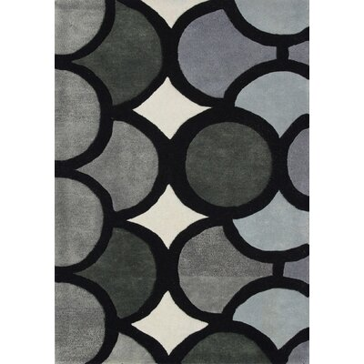 Hand-Tufted Gray Area Rug Rug Size: 5' x 8'