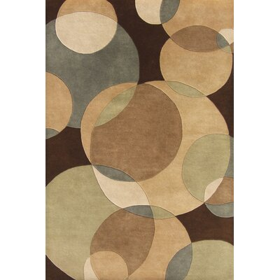 Hand-Tufted Brown Area Rug Rug Size: Rectangle 5 x 8