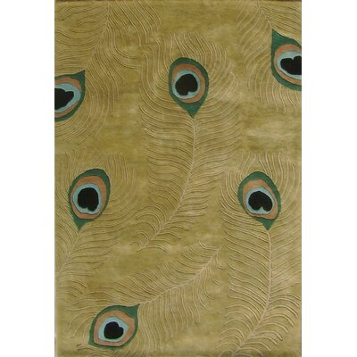 Hand-Tufted Green Area Rug Rug Size: Rectangle 8 x 10
