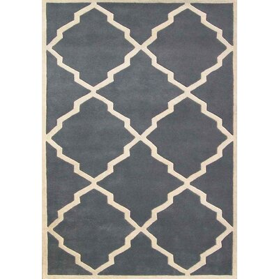 Milwaukie Hand-Tufted Gray Area Rug Rug Size: Rectangle 4 x 6