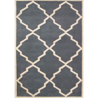 Milwaukie Hand-Tufted Gray Area Rug Rug Size: 9 x 12