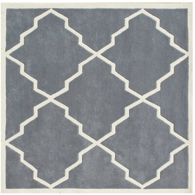 Milwaukie Hand-Tufted Gray Area Rug Rug Size: Square 6