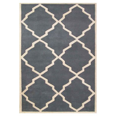Milwaukie Hand-Tufted Gray Area Rug Rug Size: 5 x 8