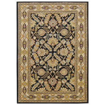 Hand-Tufted Brown/Black Area Rug Rug Size: 5 x 8