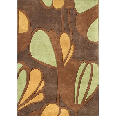 Nashville Hand-Tufted Brow Area Rug Rug Size: 5 x 8