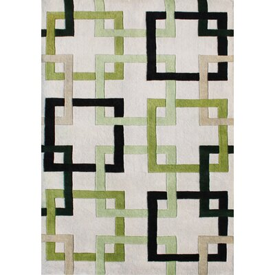 Hand-Tufted Gray Area Rug Rug Size: Rectangle 5 x 8