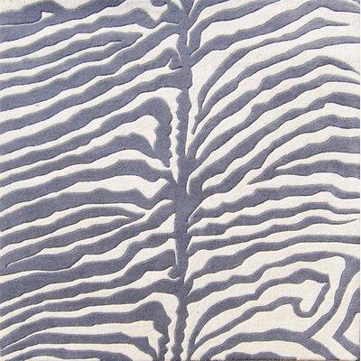 Nesika Hand-Tufted Gray/Ivory Area Rug Rug Size: Square 6