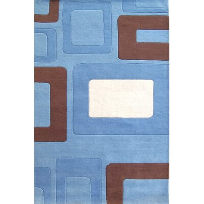 Newport Hand-Tufted Blue Area Rug Rug Size: 5 x 8