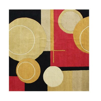 Hand-Tufted Brown Area Rug Rug Size: Square 6