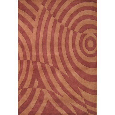 Norway Hand-Tufted Brown Area Rug Rug Size: 5 x 8
