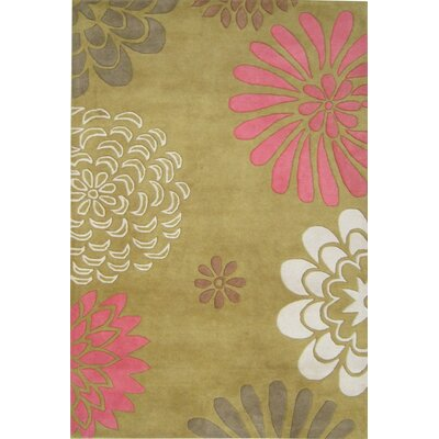 Oatfield Hand-Tufted Green Area Rug Rug Size: Rectangle 5 x 8