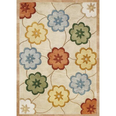 Olex Hand-Tufted Beige Area Rug Rug Size: 5 x 8
