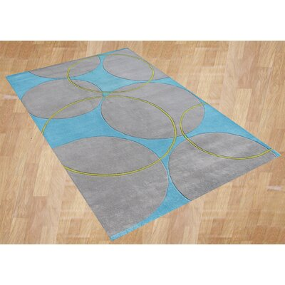 Orenco Hand-Tufted Blue/Gray Area Rug Rug Size: 8 x 10