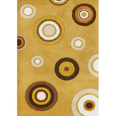 Orodell Hand-Tufted Yellow Area Rug Rug Size: 5 x 8