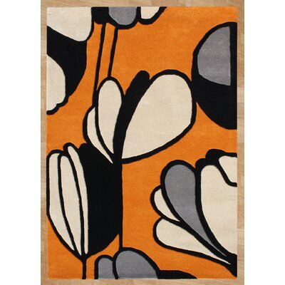 Otis Hand-Tufted Orange Area Rug Rug Size: 5 x 8