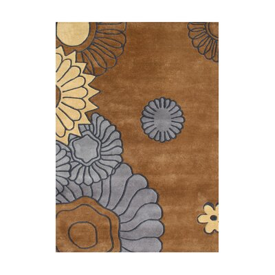 Owyhee Hand-Tufted Brown Area Rug Rug Size: 5 x 8