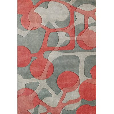 Oxbow Hand-Tufted Grey Area Rug Rug Size: 5 x 8