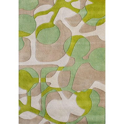 Oakland Hand-Tufted Green Area Rug Rug Size: 5 x 8