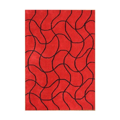 Oregon Hand-Tufted Red Area Rug