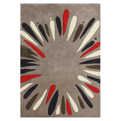 Perrydale Hand-Tufted Gray Area Rug