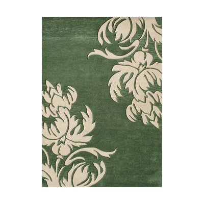 Pine Hand-Tufted Green/Beige Area Rug