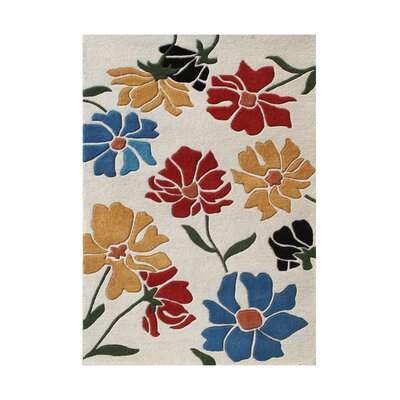 Placer Hand-Tufted Beige/ Red Area Rug