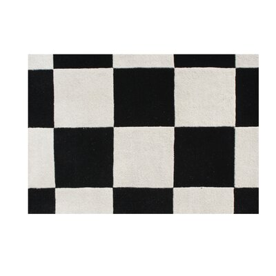 Pocahontas Hand-Tufted White/Black Area Rug