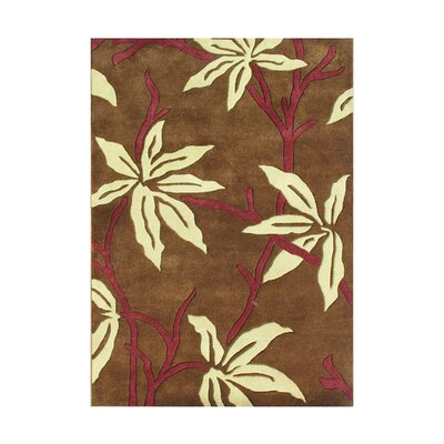 Powell Hand-Tufted Brown Area Rug