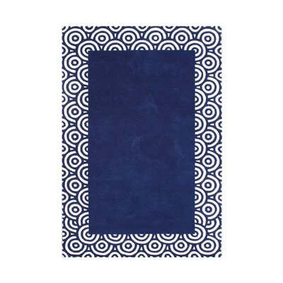 Butte Hand-Tufted Blue Area Rug Rug Size: 5 x 8