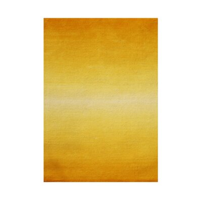 Provolt Hand-Tufted Orange/ Yellow Area Rug Rug Size: 5 x 8