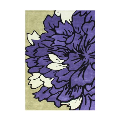 Hand-Tufted Purple Area Rug Rug Size: 5 x 8