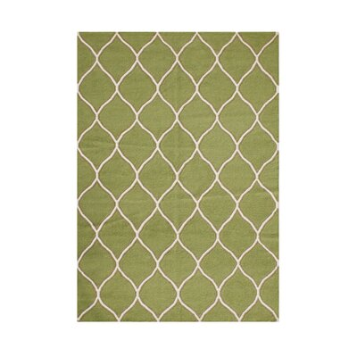 Phoenix Hand-Tufted Green Area Rug Rug Size: 5 x 8