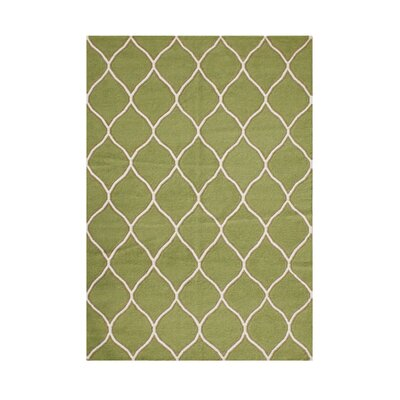 Phoenix Hand-Tufted Green Area Rug Rug Size: 8 x 10