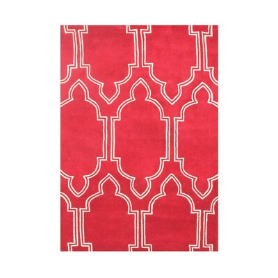 Prairie Hand-Tufted Red Area Rug Rug Size: 5 x 8
