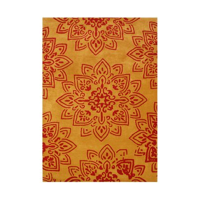 Prescott Hand-Tufted Orange/Red Area Rug Rug Size: 5 x 8