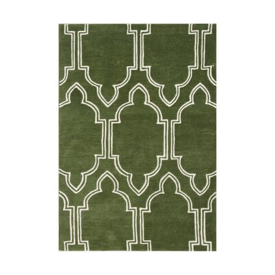 Prineville Hand-Tufted Green Area Rug Rug Size: 5 x 8