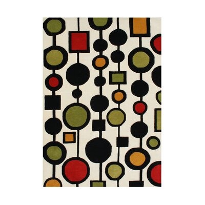 Redland Hand-Tufted Area Rug Rug Size: Rectangle 5 x 8