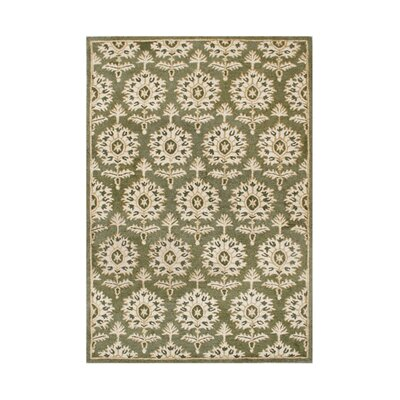 Rickreall Hand-Tufted Green/Cream Area Rug Rug Size: 8 x 10