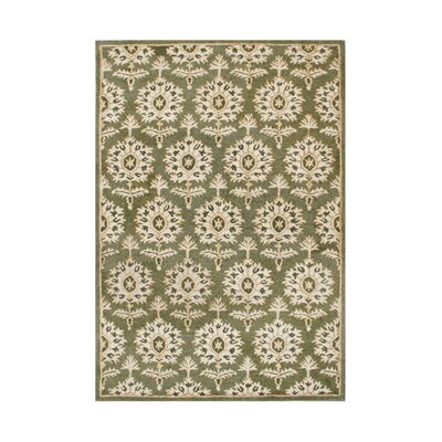 Rickreall Hand-Tufted Green/Cream Area Rug Rug Size: 5 x 8