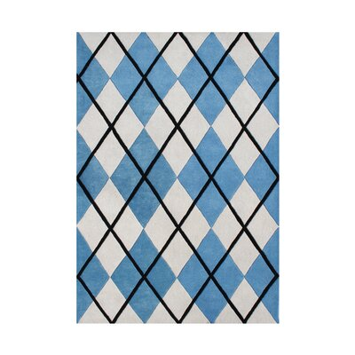 Rieth Hand-Tufted Cream/Blue Area Rug