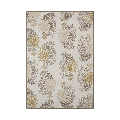 Riley Hand-Tufted Cream Area Rug Rug Size: 5 x 8
