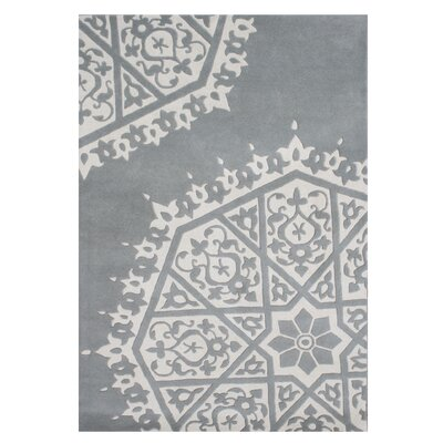 Ritter Hand-Tufted Gray/White Area Rug Rug Size: 5' x 8'